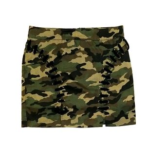 Army print skirt